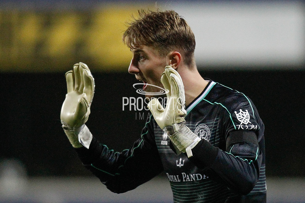 Queens Park Rangers goalkeeper Joe Lumley (13) during The FA Cup 5th round match between Queens Park Rangers and Watford at the Loftus Road Stadium, London, England on 15 February 2019.