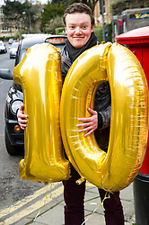 Pictured: <br /> <br /> Ian Murray , MP, shadow Scottish Secretary joined Edinburgh South candiate Daniel Johnson on the streets to Edinburgh to celebrate 10 years of free public transport for the over sixties and announce plans to immprove public transport. <br /> <br /> Ger Harley | EEm 1 April 2016