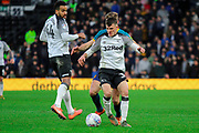 Derby County midfielder Jason Knight on the ball during the EFL Sky Bet Championship match between Derby County and Hull City at the Pride Park, Derby, England on 18 January 2020.