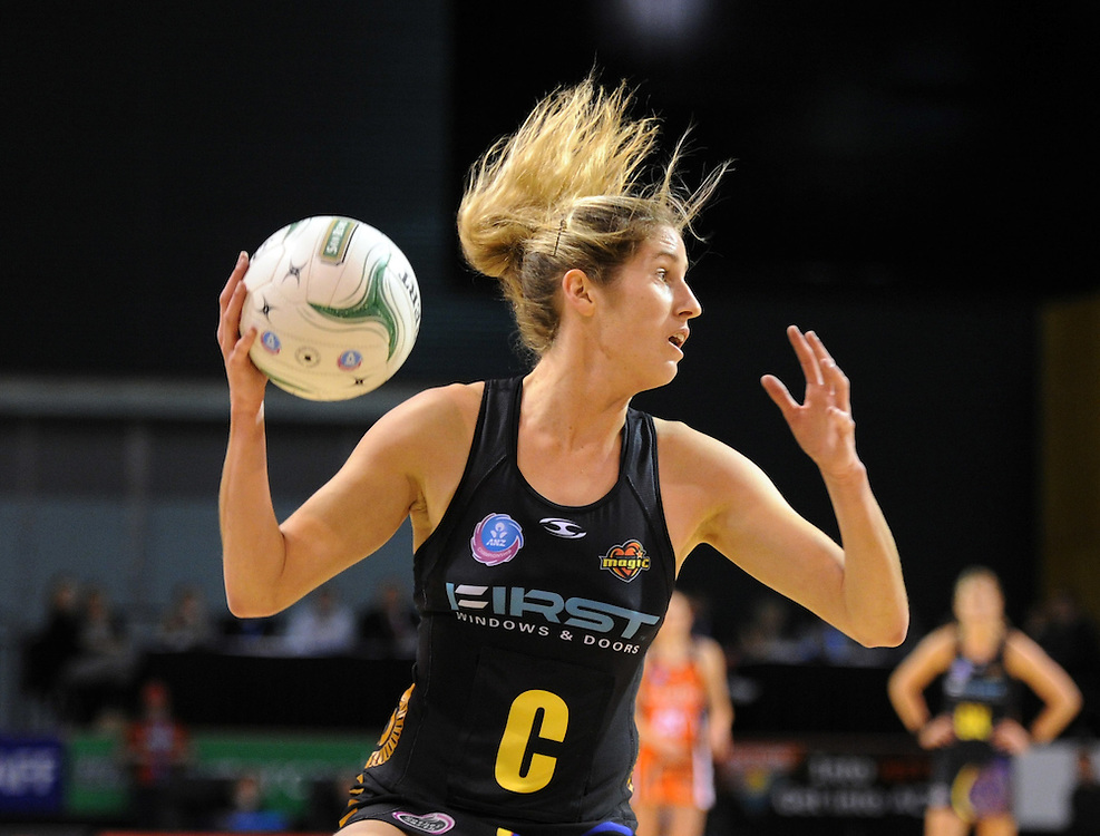 Magic's jessica Tuki against the Tactix in the ANZ Championship netball match at CBS Arena, Christchurch, New Zealand, Saturday, May 19, 2012. Credit:SNPA / Ross Setford