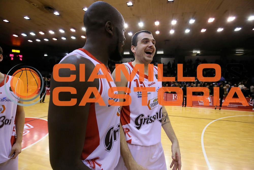Sava Lesic, Delroy James<br /> Grissin Bon Pallacanestro Reggio Emilia - Betaland Capo d' Orlando - <br /> Lega Basket Serie A 2016/2017<br /> Reggio Emilia, 05/12/2016<br /> Foto Ciamillo-Castoria