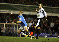 Photo: Rich Eaton.<br /> <br /> Birmingham City v Derby County. Coca Cola Championship. 09/03/2007. Rowan Vine #19 left of Birmingham City scores the opening goal of the game and runs away to celebrate