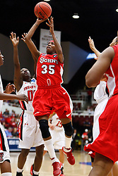 March 19, 2011; Stanford, CA, USA; St. John's Red Storm guard Shenneika Smith (35) shoots against the Texas Tech Lady Raiders during the first half of the first round of the 2011 NCAA women's basketball tournament at Maples Pavilion. St. John's defeated Texas Tech 55-50.