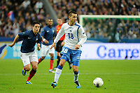 FOOTBALL - UEFA EUROPEAN CHAMPIONSHIP 2012 - QUALIFYING - GROUP D - FRANCE v BOSNIA - 11/10/2011 - PHOTO JEAN MARIE HERVIO / DPPI - HARIS MEDUNJANIN (BOS)