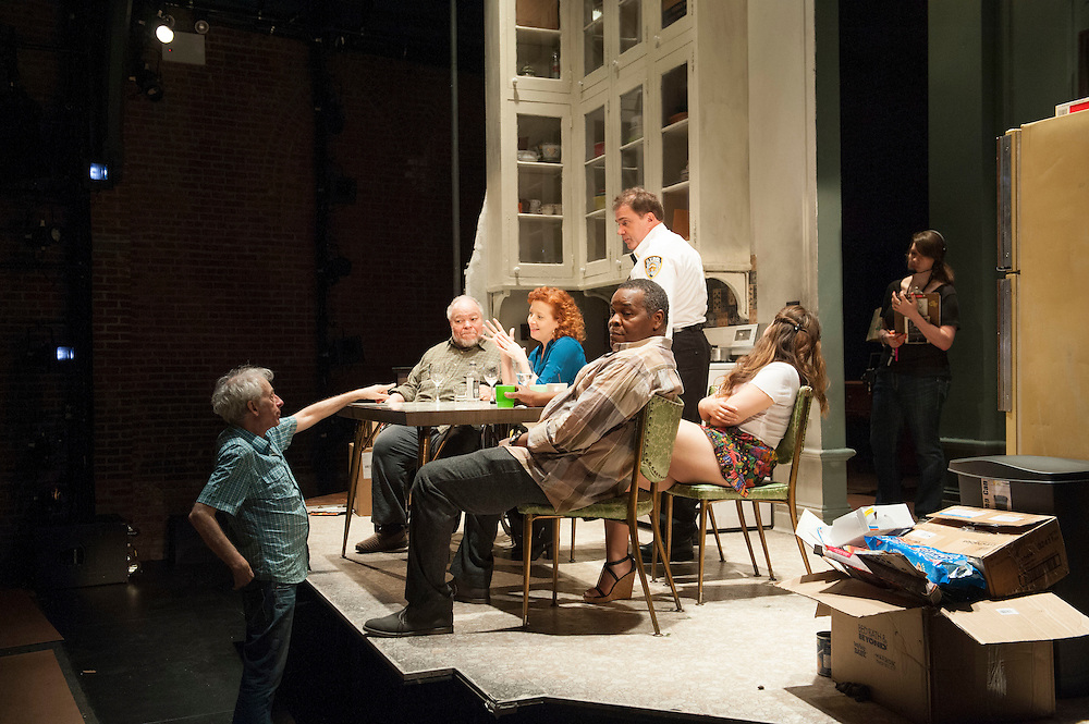 Behind the scenes and Production photos from the original Atlantic Theater Company Off Broadway production
