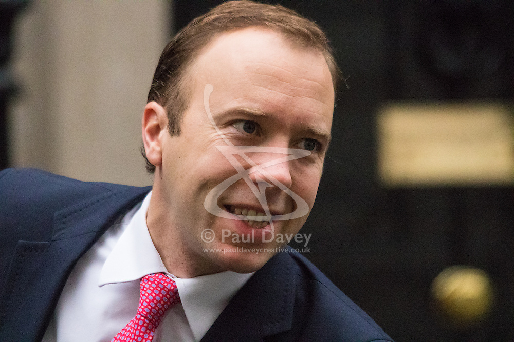 Downing Street, London, November 17th 2015. Minister for the Cabinet Office Matt Hancock arrives at Downing Street for the weekly cabinet meeting.