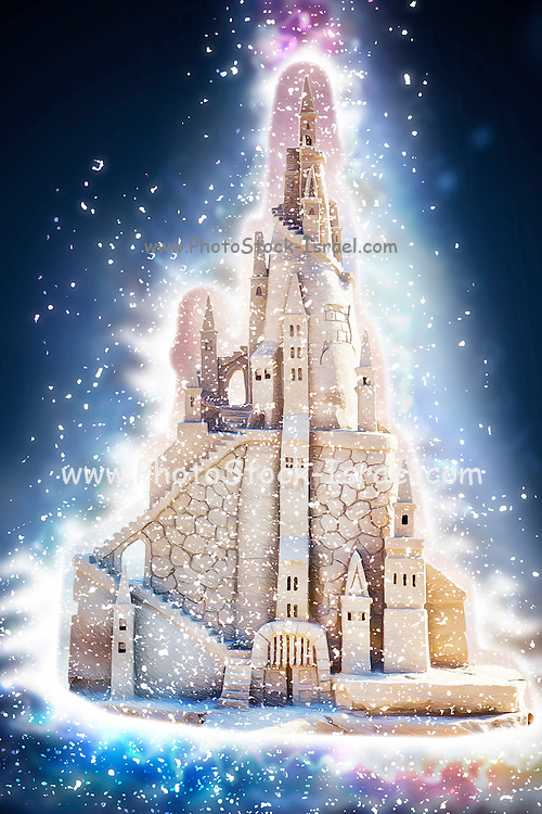Glowing Fantasy Sand Castle