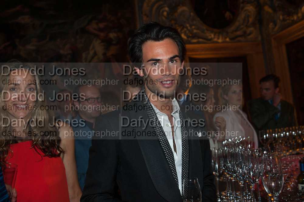 MARK-FRANCIS VANDELLI, Andrea Dibelius of the EMDASH Foundation hosts party to celebrate the Austrian Pavilion and artist Mathias Poledna at the Venice Biennale. Palazzo Barbaro, Venice. 30 May 2013<br /> <br /> <br /> Venice. Venice Bienalle. 28 May 2013