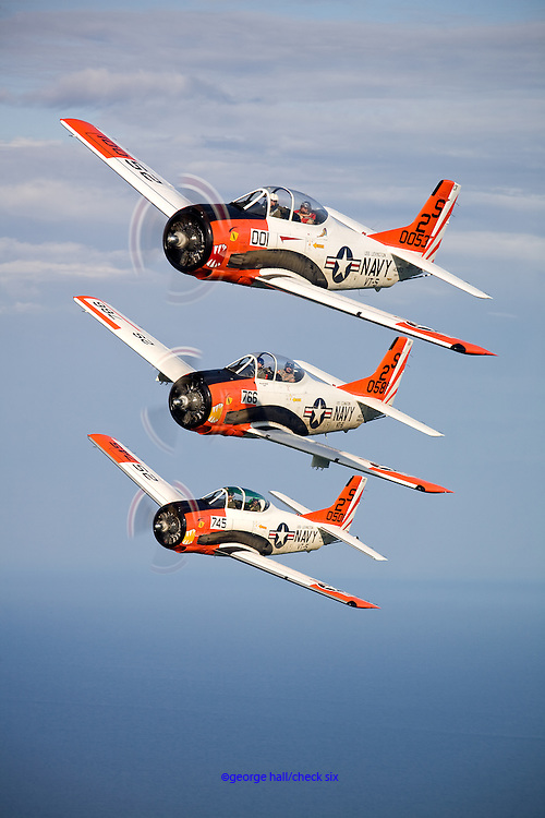 T-28 60th Anniversary Formation Training - Sheboygan, WI..Pilots Linc Dexter, Jack Mangen and Luc Joly