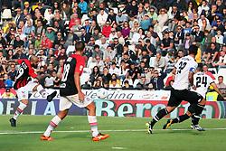 """Foto Filippo Rubin<br /> 21/10/2017 Cesena (Italia)<br /> Sport Calcio<br /> Cesena vs Fogga - Campionato di calcio Serie B ConTe.it 2017/2018 - Stadio """"Orogel Stadium""""<br /> Nella foto: GOAL FOGGIA FABIO MAZZEO<br /> <br /> Photo Filippo Rubin<br /> October 21, 2017 Cesena (Italy)<br /> Sport Soccer<br /> Cesena vs Foggia - Italian Football Championship League B ConTe.it 2017/2018 - """"Orogel Stadium"""" Stadium <br /> In the pic: GOAL FOGGIA FABIO MAZZEO"""