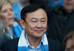 MANCHESTER, ENGLAND - Monday, April 30, 2012: Former Manchester City owner Thaksin Shinawatra looks on during the Premiership match at the City of Manchester Stadium. (Pic by Chris Brunskill/Propaganda)