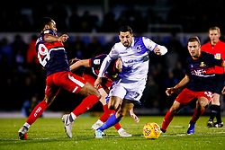 Liam Sercombe of Bristol Rovers is challenged by Shaun Cummings of Doncaster Rovers - Mandatory by-line: Ryan Hiscott/JMP - 08/12/2018 - FOOTBALL - Memorial Stadium - Bristol, England - Bristol Rovers v Doncaster Rovers - Sky Bet League One
