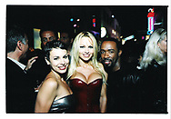 Natalie Raitano, Pamela Anderson and friend.  Back lot party.  California.<br /> <br /> Photo by German Silva for Berliner Studio.  Copyrighted.
