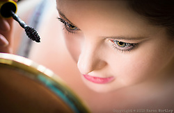 In the mirror, window light portrait