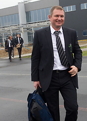Head coach Matjaz Kek at departure of Slovenia's National football team to Belfast, Northern Ireland for EURO 2012 Quaifications game between National teams of Slovenia and Northern Ireland, on March 28, 2011, at Airport Edvard Rusjan, Maribor, Slovenia. (Photo by Vid Ponikvar / Sportida)