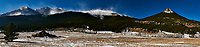 Colorado Panorama -- East Side of Rocky Mountain National Park. Mt. Meeker, Longs Peak to Estes Cone from Colorado Highway 7. Composite of 4 images taken with a Nikon D300 camera and 17-35 mm f/2.8 lens (ISO 200, 35 mm, f/22, 1/60 sec).