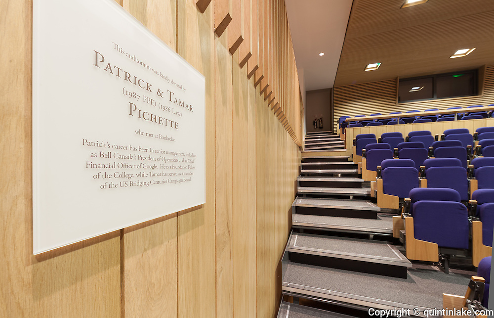 Pichette Auditorium. Pembroke College, New Build on completion March 2013. Oxford, UK