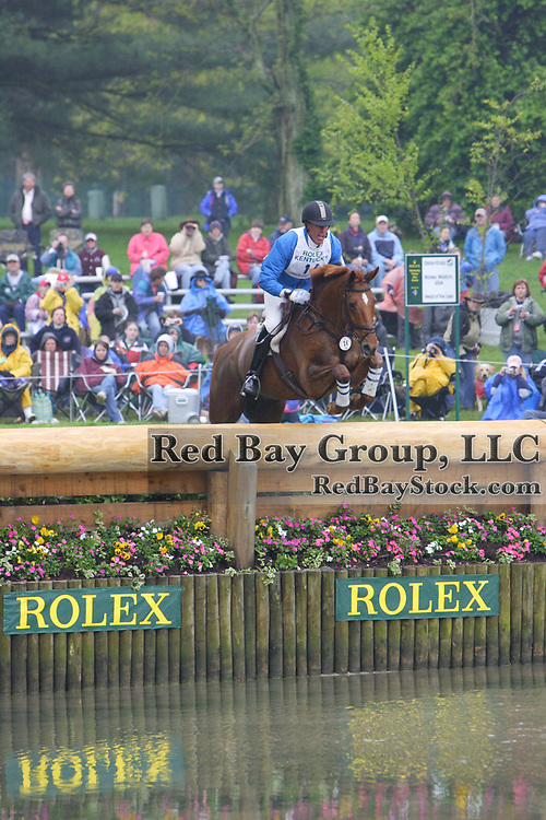 Peter Gray (CAN) and Balladeer Ted at the 2005 Rolex Kentucky Three-Day Event.