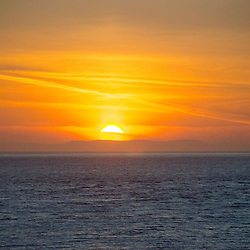 Sunset over the Strait of Juan de Fuca, Whidbey Island, Washington, US