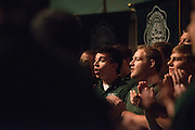 Members of the Singing Men of Ohio perform at the First Year Student Convocation. Photo by Ben Siegel