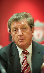 LIVERPOOL, ENGLAND - Thursday, July 1, 2010: Liverpool Football Club's new manager Roy Hodgson during a press conference at Anfield. (Pic by David Rawcliffe/Propaganda)