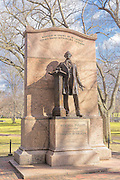 Wendell Phillips statue in the Boston Public Gardens was designed by Daniel Chester French in 1915