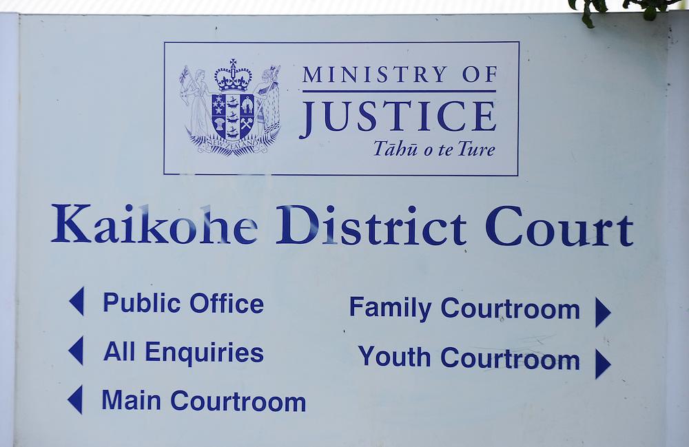 Kaikohe District Court, Kaikohe, New Zealand, Tuesday, February 05, 2013. Credit:SNPA / Ross Setford