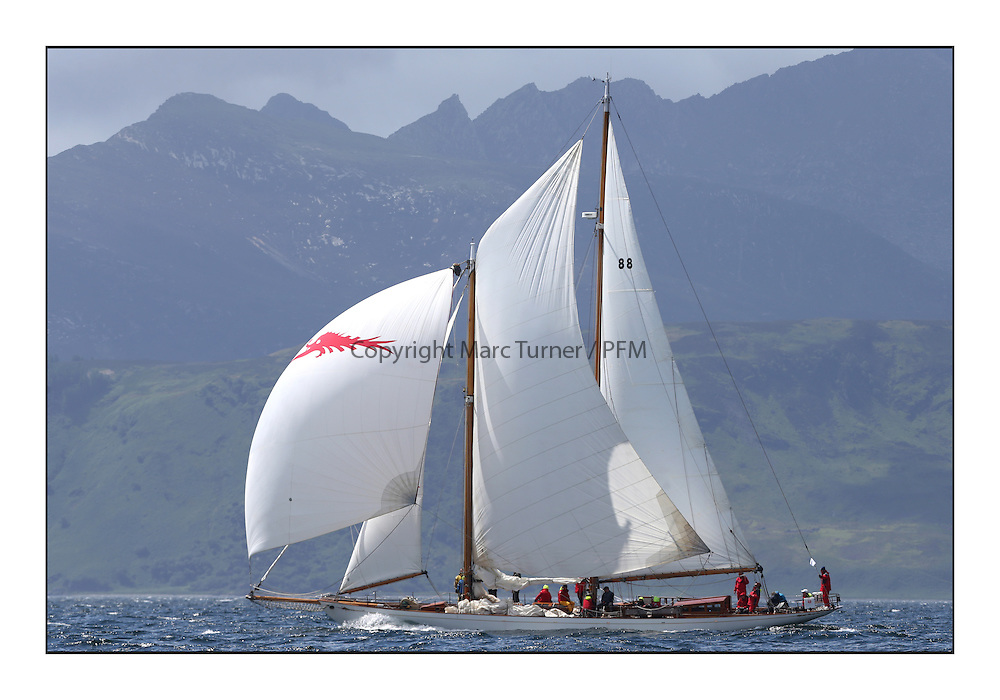 Day five of the Fife Regatta, Race from Portavadie on Loch Fyne to Largs. <br /> <br /> Astor, Richard Straman, USA, Schooner, Wm Fife 3rd, 1923<br /> <br /> * The William Fife designed Yachts return to the birthplace of these historic yachts, the Scotland&rsquo;s pre-eminent yacht designer and builder for the 4th Fife Regatta on the Clyde 28th June&ndash;5th July 2013<br /> <br /> More information is available on the website: www.fiferegatta.com