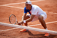 Paris, France - 2017 June 02: Lukasz Kubot from Poland looks forward while his men's double match second round during tennis Grand Slam tournament The French Open 2017 (also called Roland Garros) at Stade Roland Garros on June 02, 2017 in Paris, France.<br /> <br /> Mandatory credit:<br /> Photo by © Adam Nurkiewicz<br /> <br /> Adam Nurkiewicz declares that he has no rights to the image of people at the photographs of his authorship.<br /> <br /> Picture also available in RAW (NEF) or TIFF format on special request.<br /> <br /> Any editorial, commercial or promotional use requires written permission from the author of image.