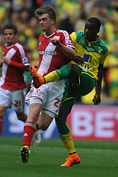 Patrick Bamford, Middlesbrough, Middlesbrough v Norwich, Sky Bet Championship, Play Off Final, Wembley Stadium, Monday  25th May 2015