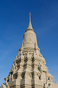 Phnom Penh, Cambodia. Royal Palace. Silver Pagoda Compound. Stupa of HM King Norodom.