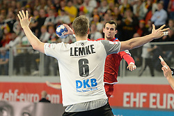 Lemke Finn of Germany during handball match between National teams of Germany and Czech Republic on Day 2 in Main Round of Men's EHF EURO 2018, on January 19, 2018 in Arena Varazdin, Varazdin, Croatia. Photo by Mario Horvat / Sportida
