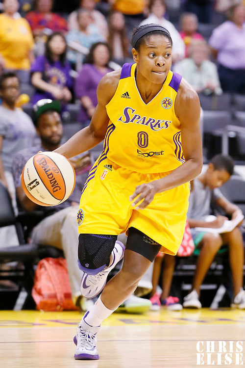 03 August 2014: Los Angeles Sparks guard/forward Alana Beard (0) is seen during the Los Angeles Sparks 70-69 victory over the Connecticut Sun, at the Staples Center, Los Angeles, California, USA.