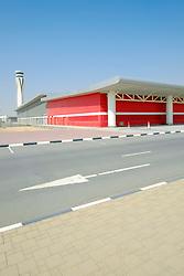 New Al Maktoum airport terminal building in Dubai World Central logistics district Jebel Ali Dubai United Arab Emirates