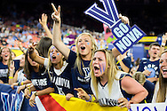 04 APR 2016:  Villanova University students cheer on their team against the University of North Carolina during the 2016 NCAA Men's Division I Basketball Final Four Championship game held at NRG Stadium in Houston, TX.   Villanova defeated North Carolina 77-74 to win the national title. Brett Wilhelm/NCAA Photos