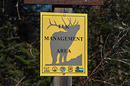 Special Elk Management Area Sign in Ashland County, Wisconsin