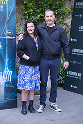 April 27, 2018 - Rome, Italy - American actor Joaquin Phoenix with the British director Lynne Ramsay..Photocall in Rome to present the film ''A Beautiful Day' (Credit Image: © Matteo Nardone/Pacific Press via ZUMA Wire)