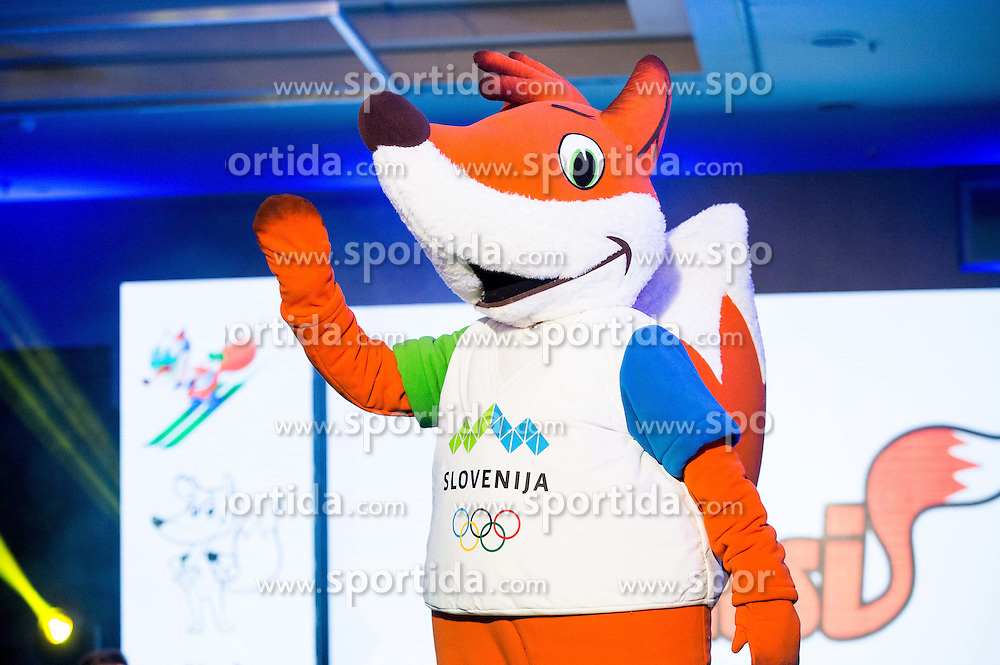 Mascot Foksi during official presentation of the Designer wear for Slovenian Athletes at Rio Summer Olympic Games 2016, on April 15, 2016 in Hotel Lev, Ljubljana, Slovenia. Photo by Vid Ponikvar / Sportida