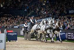 CHARDON Ijsbrand (NED), Casper, Feles, Kendi, Maestoso XIV-7<br /> Stuttgart - German Masters 2018<br /> FEI World Cup Driving/Fahren<br /> 17. November 2018<br /> © www.sportfotos-lafrentz.de/Stefan Lafrentz
