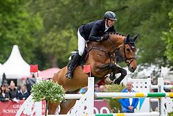 THIEME Andre (GER), Crazy Girl V<br /> Redefin - Pferdefestival 2019<br /> Großer Preis der Deutschen Kreditbank AG<br /> BEMER Riders Tour - Wertungsprüfung<br /> Große Tour – Finale: Int. Weltranglisten-Springprüfung (1,60m) mit zwei Umläufen<br /> 26. Mai 201<br /> © www.sportfotos-lafrentz.de/Stefan Lafrentz