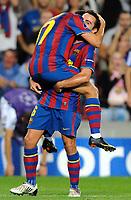 Fotball<br /> Foto: DPPI/Digitalsport<br /> NORWAY ONLY<br /> <br /> FOOTBALL - UEFA CHAMPIONS LEAGUE 2009/2010 - GROUP F -  FC BARCELONA v DYNAMO KIEV - 29/09/2009<br /> <br /> GOAL PEDRO RODRIGUEZ (BAR) - XAVI (BAR)