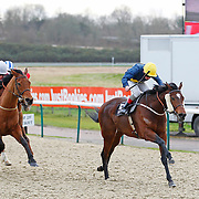 Grey Mirage and Jimmy Quinn winning the 2.10 race