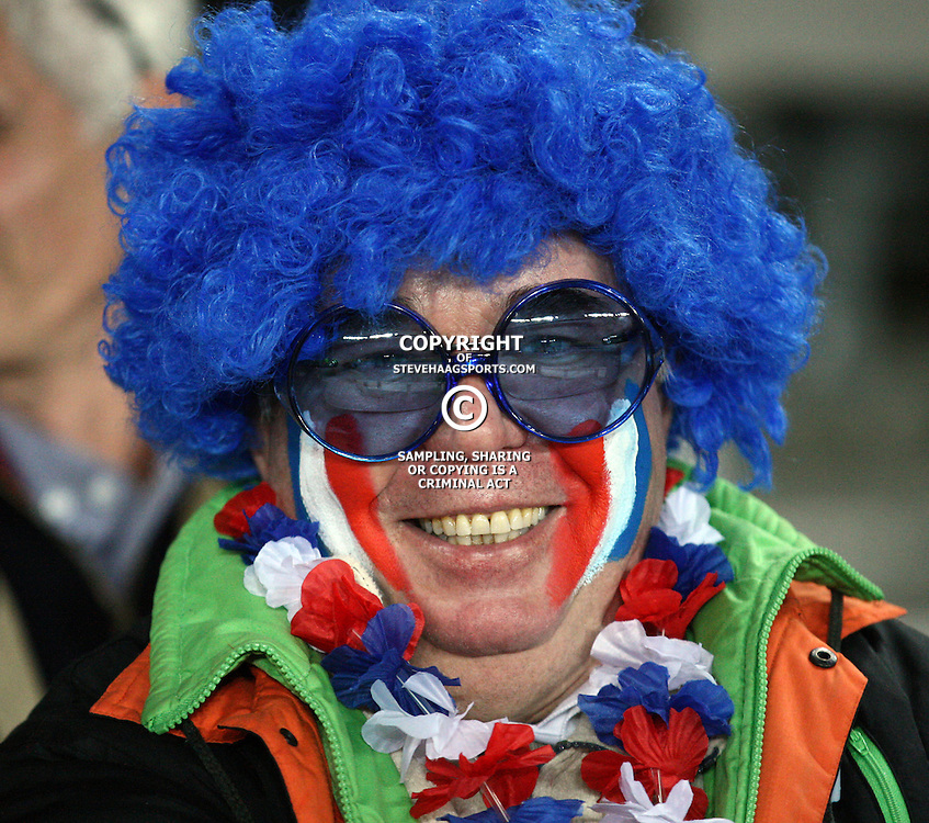 AUCKLAND, NEW ZEALAND - SEPTEMBER 24,  A French fan during the 2011 Rugby World Cup match between New Zealand and France at Eden Park on September 24, 2011 in Auckland, New Zealand<br /> Photo by Steve Haag / Gallo Images