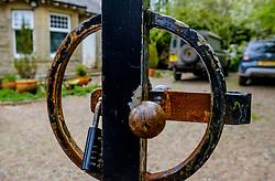 Gate to a house in South Lanarkshire padlocked closed during the coronavirus lockdown.<br /> <br /> (c) Andrew Wilson   Edinburgh Elite media