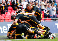 Morpeth Town AFC celebrate scoring to make it 1-3  during the FA Vase Final at Wembley Stadium, London<br /> Picture by Simon Moore/Focus Images Ltd 07807 671782<br /> 22/05/2016