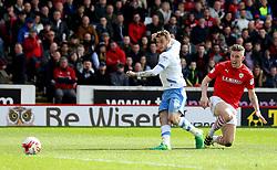 Sam Winnall of Sheffield Wednesday scores a goal - Mandatory by-line: Robbie Stephenson/JMP - 01/04/2017 - FOOTBALL - Oakwell Stadium - Barnsley, England - Barnsley v Sheffield Wednesday - Sky Bet Championship