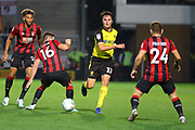 Burton Albion forward Oliver Sarkic passes the ball during the EFL Cup match between Burton Albion and Bournemouth at the Pirelli Stadium, Burton upon Trent, England on 25 September 2019.
