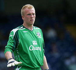 Bury, England - Saturday, July 7, 2007: Everton's John Ruddy in action against Bury during a pre-season friendly at Gigg Lane. (Photo by Dave Kendall/Propaganda)