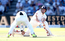 Gary Ballance of England plays a sweep shot - Mandatory by-line: Robbie Stephenson/JMP - 08/07/2017 - CRICKET - Lords - London, United Kingdom - England v South Africa - Investec Test Series