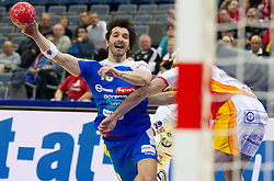 David Spiler of Slovenia during handball match between Slovenia and F.Y.R. Macedonia for 5th place at 10th EHF European Handball Championship Serbia 2012, on January 27, 2012 in Beogradska Arena, Belgrade, Serbia.  (Photo By Vid Ponikvar / Sportida.com)